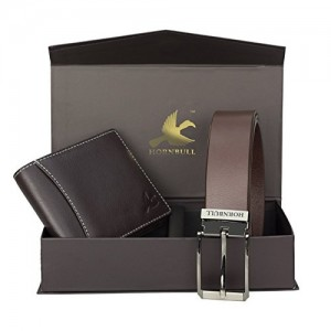 Hornbull Men's Brown Wallet and Brown Belt Combo BW9295