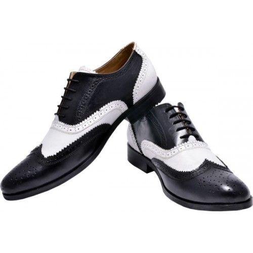 f9030b8d2e6 Buy Hirel's Mens Dual Color Leather Brogues Lace Up Shoes For Men ...