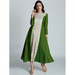 Jaipur Kurti Self Design Princess Cut Flared Kurta