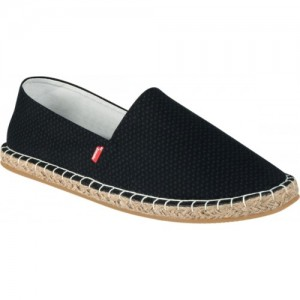 Zobello Black Canvas Men's Printed Espadrilles For Men