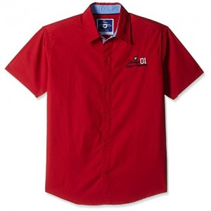 612 League Red solid Boys' Shirt
