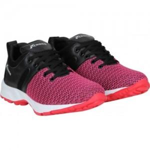 Kraasa Pink & Black Mesh Running Shoes For Men
