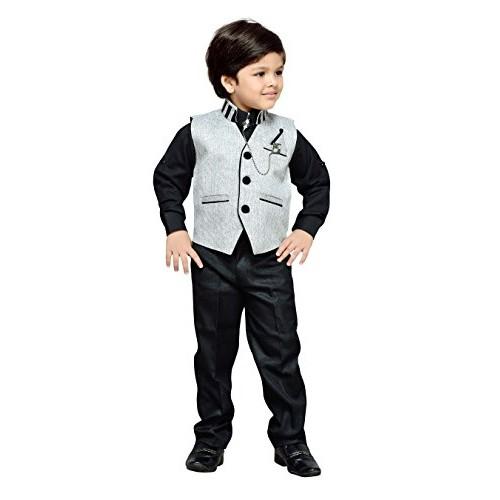 d74edc2c17 Buy AJ Dezines kids party wear waistcoat suit set for boys online ...