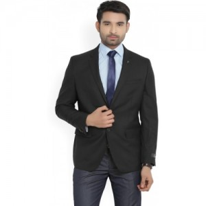 Van Heusen Solid Single Breasted Formal Men's Blazer