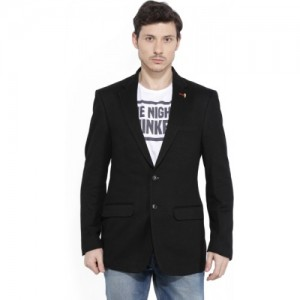 Allen Solly Self Design Single Breasted Casual Men's Blazer