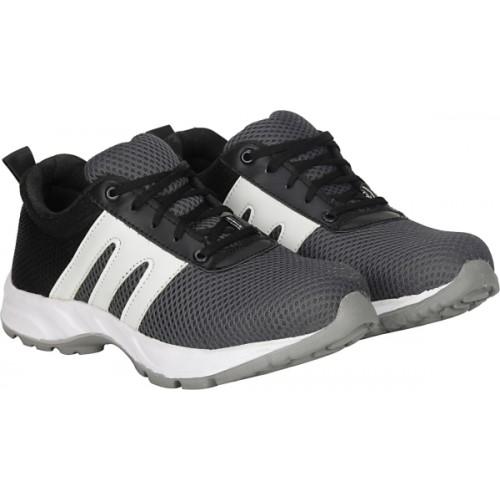 Kraasa Gray & Black Running Shoes For Men