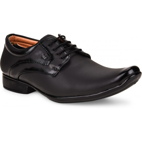 ESSENCE Black Synthetic Lace UP Formal Shoes