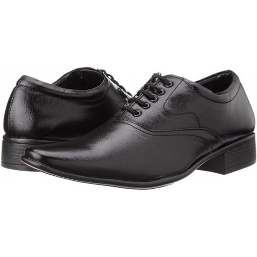 Tapps Men's Black Formal Shoes Lace Up For Men