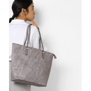 Lavie Gray Synthetic Baloch Tote Handbag