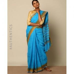 Indie Picks Edappadi Handloom Fine Cotton Saree