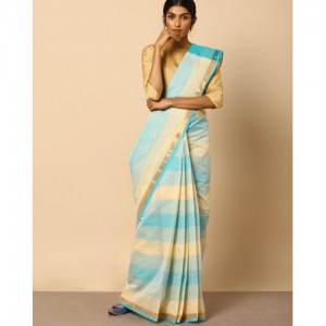 Indie Picks South Cotton Checked Saree with Zari Border