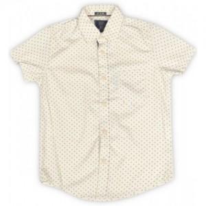 Indian Terrain Boy's Printed Casual Beige Shirt