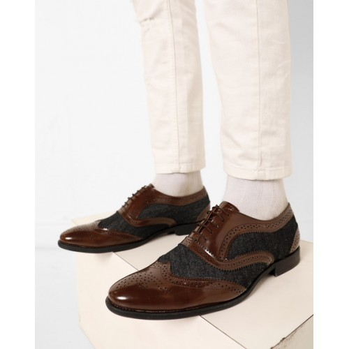 4b1b4a2917d39 Buy Modello Domani Dual-Toned Lace-Up Brogues online