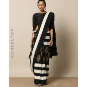 Indie Picks Handloom Pochampally Ikat Fine Cotton PHPL Saree