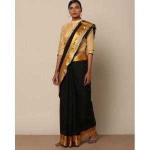 Indie Picks Mercerised Cotton Saree with Zari