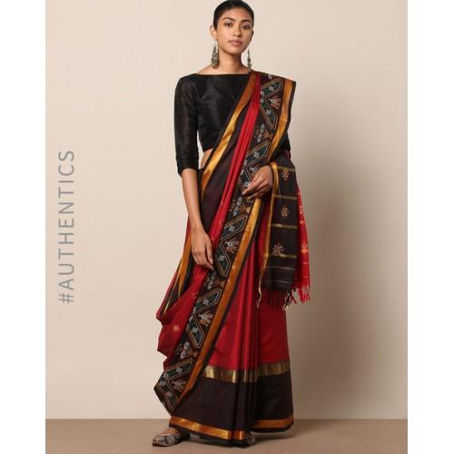 Buy Indie Picks Kasuti Embroidered South Silk Saree Online Looksgud In