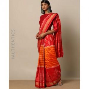 Indie Picks Handloom Pochampally Ikat Pure Silk PHPL Saree