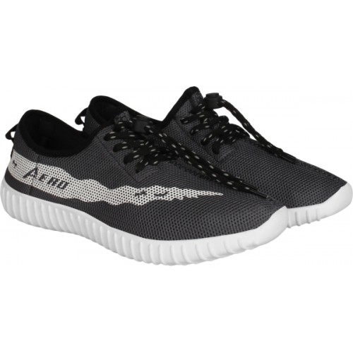 Aero Gray Mesh Running Shoes For Men
