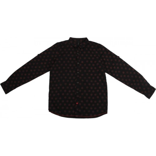 United Colors of Benetton. Boys Printed Casual Black Shirt