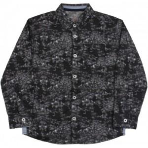 Allen Solly Junior Boys Printed Casual Black Shirt