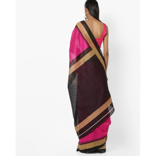 Florence Textured Saree with Contrast Border