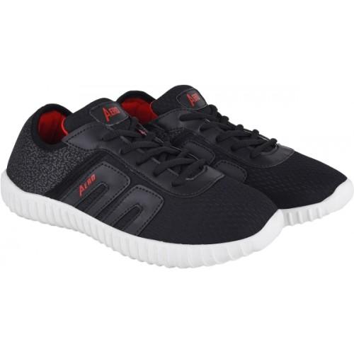 Aero Black Running Shoes For Men