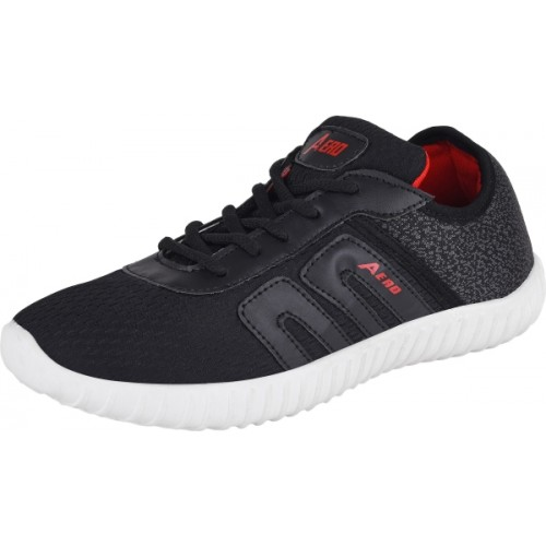 Aero Black Running Shoes For Men