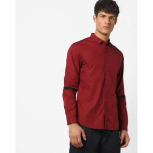 AJIO Slim Fit Shirt with Concealed Placket