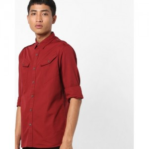 AJIO Classic Shirt with Flap Pockets