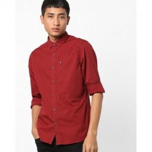 AJIO Classic Shirt with Zipped Pocket