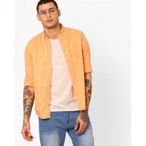 Pepe Jeans Cotton Shirt with Patch Pocket