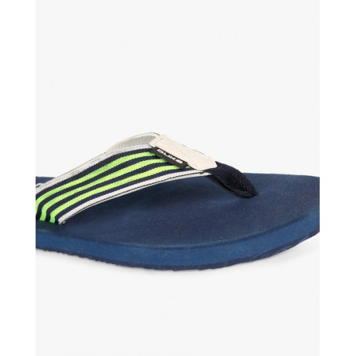 DUKE Flip-Flops with Striped Thong-Style Straps