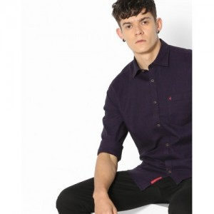 British Club Purple Sim Fit Shirt with Patch Pocket