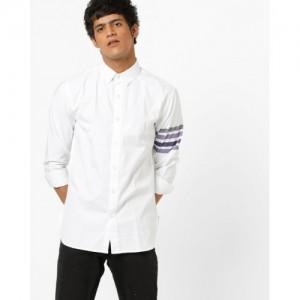 Blue Saint Cotton Shirt with Stripes