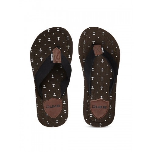 DUKE Thong-Style Flip-Flops with Printed Footbed