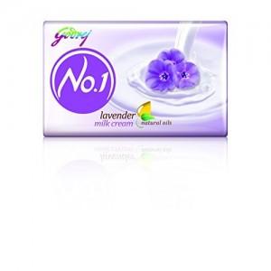 Godrej No.1 Lavender and Milk Cream Soap, 100g (Buy 3 Get 1 Free)