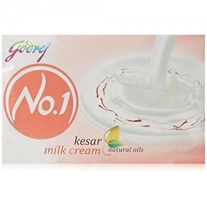 Godrej No.1 Kesar and Milk Soap, 150g (Buy 3 Get 1 Free)
