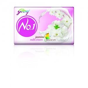 Godrej No.1 Jasmine Soap, 100g (Buy 3 Get 1 Free)