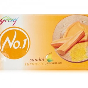 Godrej No.1 Sandal and Turmeric Soap, 150g (Buy 3 Get 1 Free)
