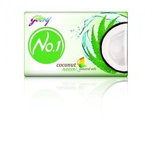 Godrej No.1 Coconut and Neem Soap, 100g (Buy 3 Get 1 Free)