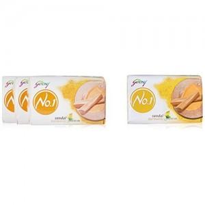 Godrej No.1 Sandal and Turmeric Soap, 100g (Buy 3 Get 1 Free)