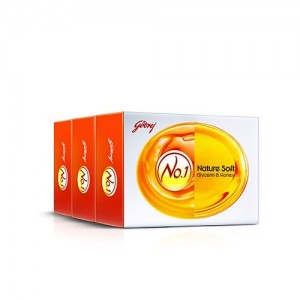 Godrej No.1 Honey and Glycerine Soap, 50g (Pack of 3)