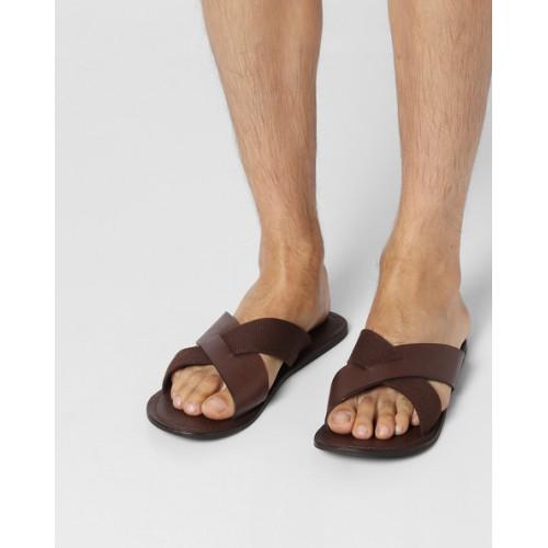 583dc74d50b Buy Estd.1977 Genuine Leather Strappy Slippers online