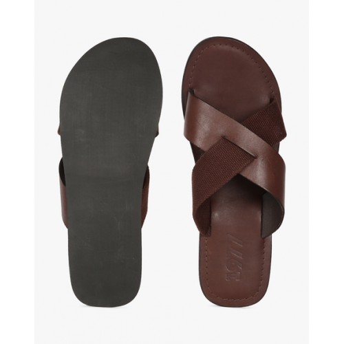 9e36713a5d103 Buy Estd.1977 Genuine Leather Strappy Slippers online
