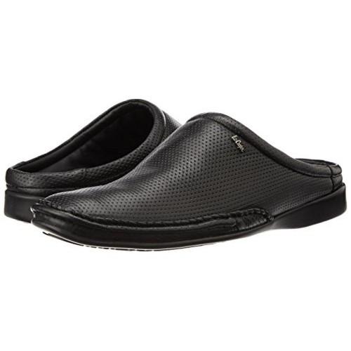 2101b286354 Buy Lee Cooper Men s Black Leather Open Back Shoes online