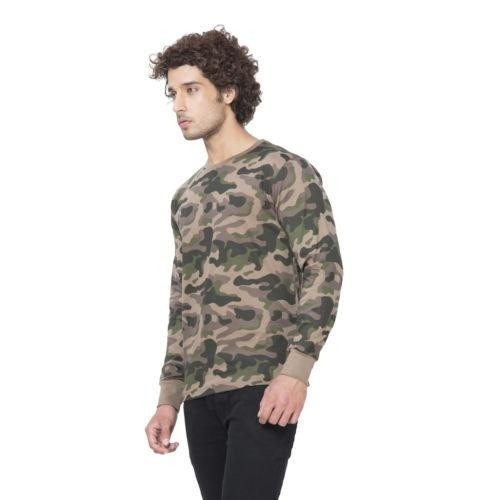 Buy Clifton Men's Army Print Full Sleeve T-Shirt online | Looksgud.in