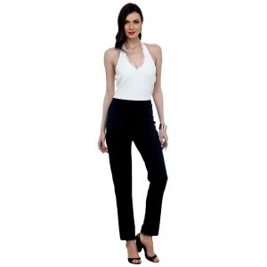 Faballey White & Black Poly Cotton Jumpsuits