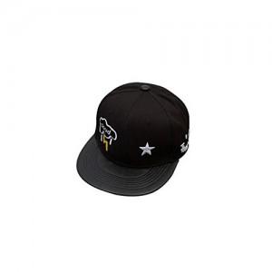 ELECTROPRIME® 2016 Men Women Bboy Hip Hop Cap Adjustable Baseball Snapback Hat (Black)