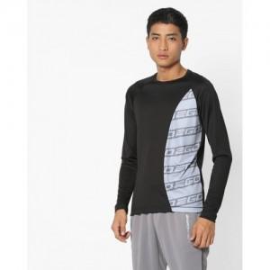 2Go Black & Gray Polyester GO-DRY Running T-shirt