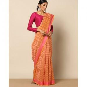 Banarasi Style Banarasi Cotton Resham Jaal Saree